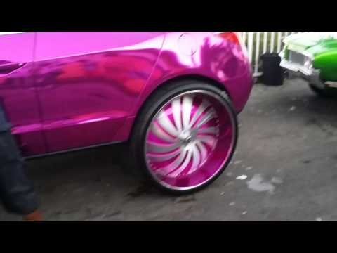 "CHROME PINK ACURA ZDX ON 32"" FORGIATOS!!! 319 FOOOTTAGEE!!!"