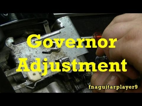 How To Adjust Mechanical Governor On Small Engines