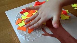 "children's crafts and applications. applique ""Autumn / Winter"". child development"