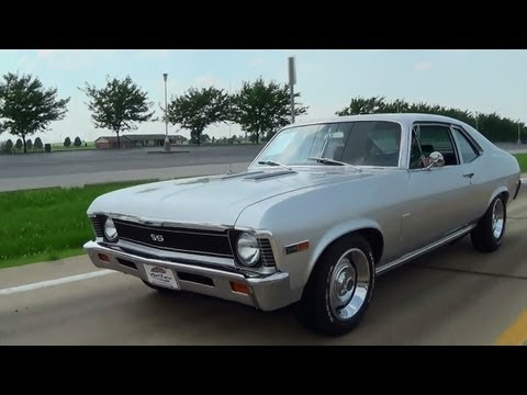 Test Driving 1969 Chevrolet Nova SS 396 Four Speed Muscle Car with Burnout