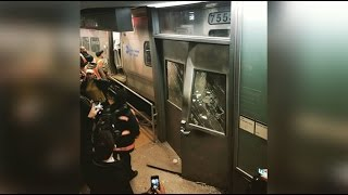 100+ commuters hurt in Brooklyn train crash