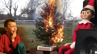 ELF ON THE SHELF CHRISTMAS FIRE PRANK