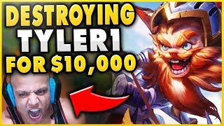 THIS GAME MADE TYLER1 TILT FROM D2 TO D4 (10+ LOSS STREAK) RIP $10,000 - League of Legends