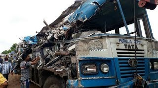 Panagarh Government Bus And Dumper Face Collision, 2 Dead, 20 Injured