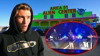 joined AREA 51 RAID... police confronted us with guns...