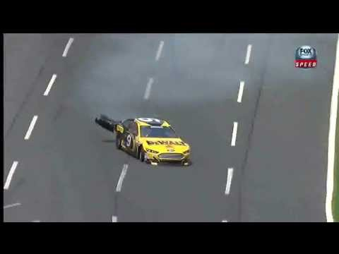 2013 All Star Race Practice Marcos Ambrose Crash