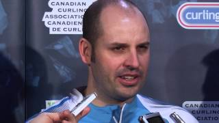 Draw 1 Media Scrum - 2013 Tim Hortons Brier