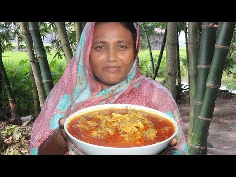 Village Food Khasir Matha Diye Buter Dal Recipe Goat Head With Chana Dal Cooking Mutton Head Curry