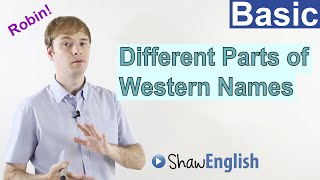 Different Parts of Western Names in English, Shaw English Videos