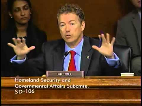 Sen. Paul Defends Apple Against HSGAC Subcommittee - 05/21/2013 PART 2