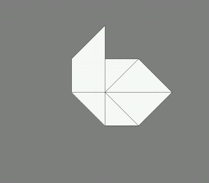 Оригами схема сборки свинья