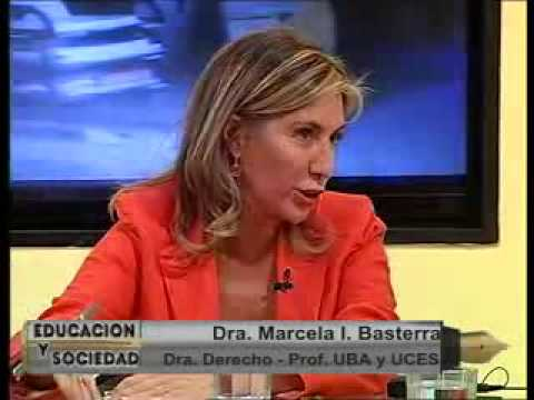 Dra. Marcela Basterra, Doctora en Derecho UBA