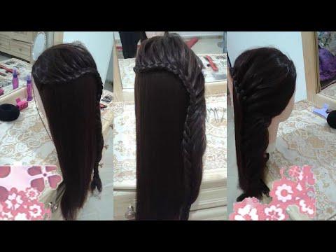 4 peinados faciles rapidos y bonitos con trenzas de moda para niña en cabello largo y mediano