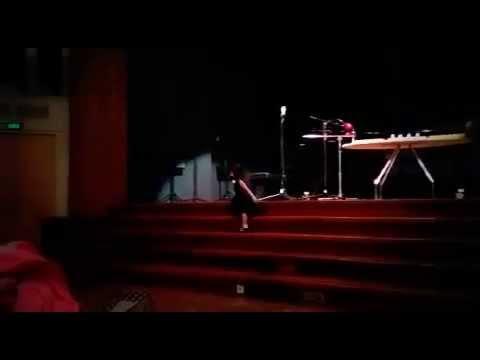 Brie (3 years, 4 months) : Singing 'Jesus Loves Me' on Stage