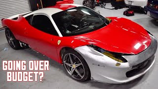 How much Money I've Spent on my WRECKED Ferrari 458...($140,000+)