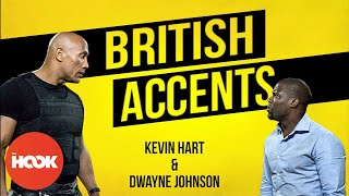 Kevin Hart & Dwayne Johnson Do Their Best British Accents & Slang