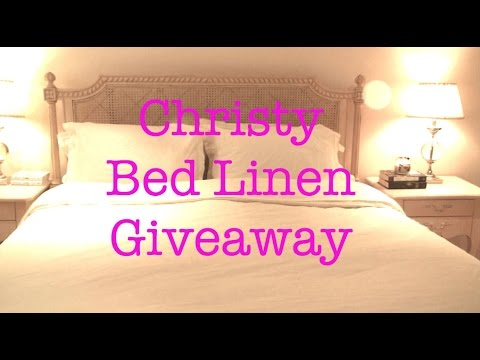 Christy Bed Linen Giveaway
