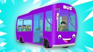 Bánh xe trên xe buýt   bus bài hát cho trẻ em   Baby Songs   Preschool Rhyme   Wheels on the Bus