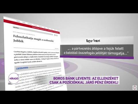 Boros Bánk Levente: Az ellenzéket csak a pozíciókkal járó pénz érdekli