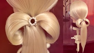 Hairstyle for school - Хвост - Бант - Hairstyles by REM