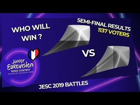 Junior Eurovision 2019 Battles   Semi-Final Round RESULTS (1137 VOTERS)