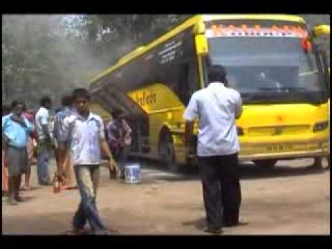 Volvo Bus Burn in Pathanapurram