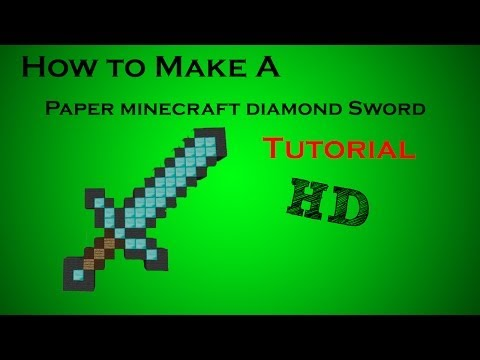 How To Make A Paper Minecraft Diamond Sword (tutorial) video
