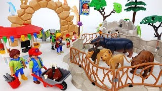 Let's Take A Look Around The Zoo~! Learn Animal Names With Playmobil Zoo - ToyMart TV