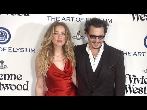 Johnny Depp & Amber Heard The Art of Elysium 2016 HEAVEN Gala Red Carpet