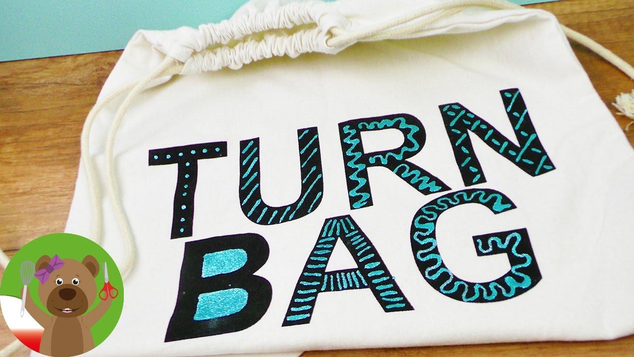 Torba materiałowa z błyszczącym napisem | projekt dekoracji napisu | Trendsetter | FUN