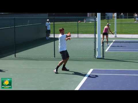 ロジャー フェデラー groundstrokes from the side -- Indian Wells Pt. 28
