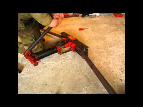 Fabrication arceau jimny methode de cintrage youtube for Fabrication presse hydraulique maison