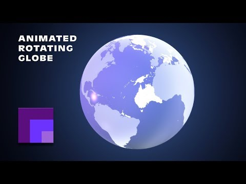 Photoshop CS6 3D Animation: Rotating Transparent Earth Globe