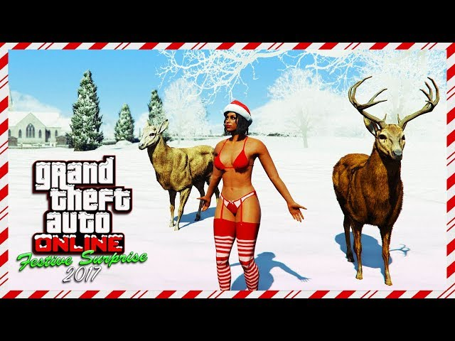 GTA Online NEW Festive Surprise 2017 DLC Christmas Update Details - Snow Days, FREE Gifts & MORE!