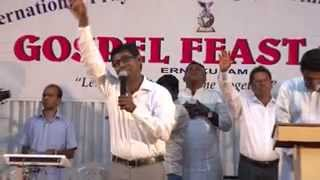 Worship Song by Pastor Lordson at Gospel feast 2014Ernakulam   Prarthanasangamam