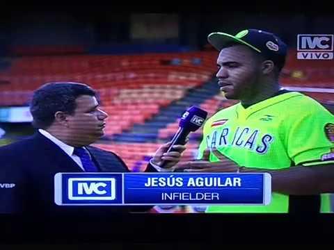 Entrevista a Jesus Aguilar Leones del Caracas antes del Juego