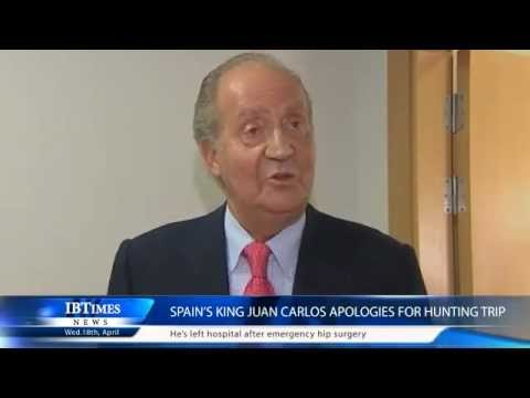 Spain's King Juan Carlos apologies for hunting trip