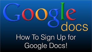How To Sign Up for Google Docs - 100% Free (2016)