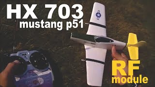 NANO MICRO MUSTANG P51  IR MODULE CONVERTED TO RF TEST FLY