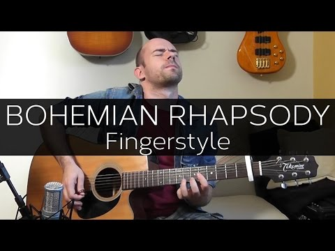 Bohemian Rhapsody (Queen) - WHOLE SONG With One Guitar! (Acoustic Guitar Solo Cover Violão)