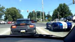 porsche gt3 vs shelby cobra