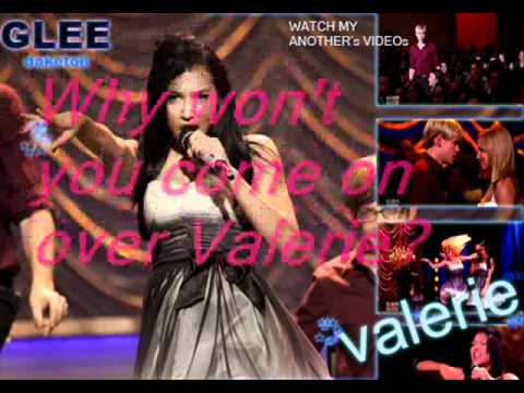 GLEE   Valerie (full song) HQ lyrics letra