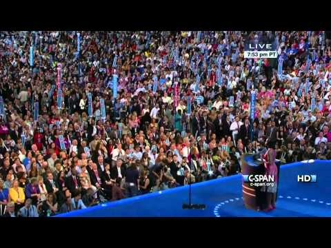 Michelle Obama speaks at the 2012 DNC (C-SPAN) - Full Speech