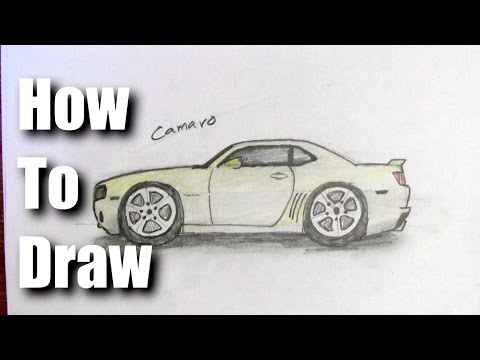 How To Draw a Camaro Sports Car