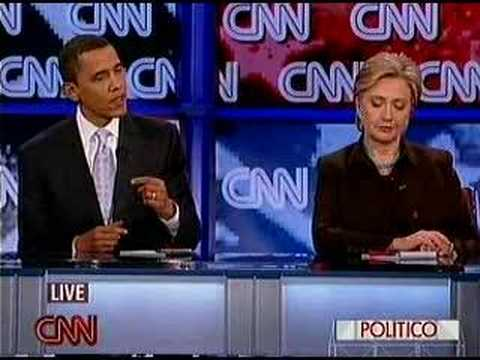 Obama Clinton Debate Iraq War on CNN