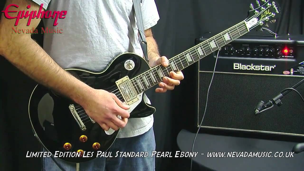 Epiphone Les Paul Standard Limited Edition Pearl Ebony