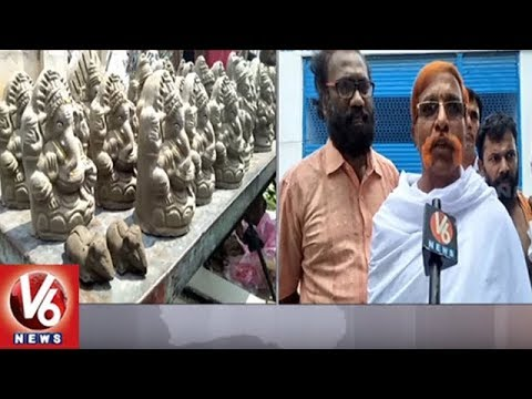 Vinayaka Chavithi : People Shows Interest On Eco Friendly Ganesh Idols | V6 News