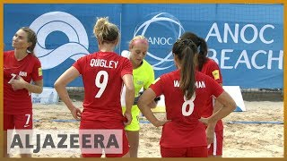 World Beach Games: Football history being made in Doha