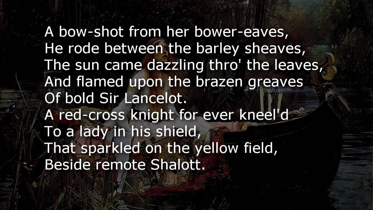 Poem the lady of shalott
