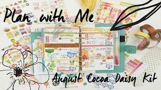 Plan with Me-August Cocoa Daisy Kit | OhSoFawn